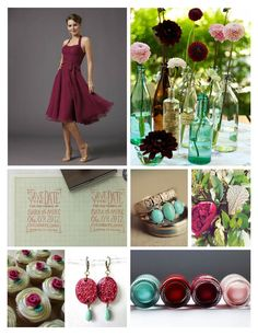 Perhaps burgundy and mint?
