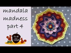 Free Pattern: http://www.crystalsandcrochet.com/mandala-madness-part-4/ Yarn used in video: http://wp.me/p5j7RG-Qk Step-by-step instructions for making part ...