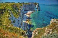 Cliffs, Étretat, Normandie - France by Stewart Leiwakabessy, via Flickr