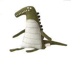 Crocodile art doll by Poosac