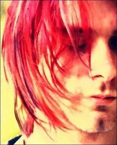 Kurt Cobain red hair