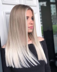 28 Top Blonde Ombre Hair Color Ideas Ombre Curly Hair, Blond Ombre, Colored Curly Hair, Ombre Hair Color, Curly Hair Styles, Hair Dye, White Ombre Hair, Blonde Hair Shades, Blonde Hair Looks