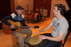 """This photo of Neil Byrne and Declan O'Donoghue Official was taken in County Galway, Ireland during the recording of """"Acoustically Irish"""" http://www.acousticallyirish.com/"""