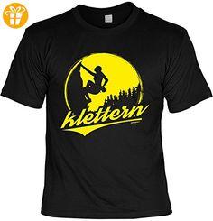 Fun T-Shirt - Wandern Hobby Motiv - Klettern - Unisex, Farbe: schwarz - Shirts mit spruch (*Partner-Link)