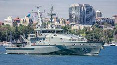 Royal Australian Navy Armidale class patrol boat HMAS Broome.