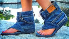 A shoe designer creates cool footwear dubbed 'jean sandal boots'. One designer, named Danielle, who is based in Israel, creates very unique sandals. Being a ...