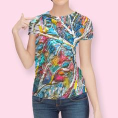 Discover a very artistic design called «Twiney Trees», Limited Edition Women's All Over T-Shirt by Jean Batzell Fitzgerald - From $49 - Curioos