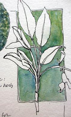from the sketchbook of jane lafazio. | Flickr: Intercambio de fotos. great use of negative space.