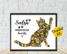 Cat Photo Collage-Cat Memorial Collage-Long Haired Cat Collage-Cat Lover Gift-Pet Memorial Photo Collage-Printable Collage-Custom Collage Cat Memorial, Memorial Ideas, Cat Lover Gifts, Cat Lovers, Photo Wall Collage, Photo Collages, Picture Frame Arrangements, Long Haired Cats, Online Printing Services