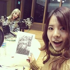 Sunny and Taeyeon at FM Date 20151008
