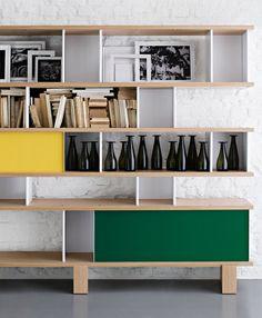 12 Gauge — repeat-norepeat: Charlotte Perriand for Cassina Charlotte Perriand, Bookcase Shelves, Shelving, Bookcases, Interior Architecture, Interior Design, Style Deco, Storage Design, Deco Design
