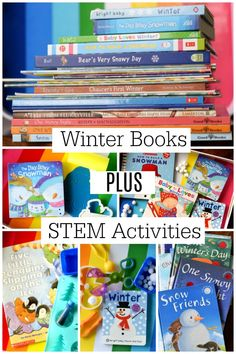 Winter Books and Sensory Experiences / STEM Activities for Kids Ages 2-6 by This Little Home of Mine