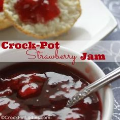 Crock-Pot Strawberry Jam | CrockPotLadies.com - Yes you can make delicious homemade strawberry jam in your slow cooker!