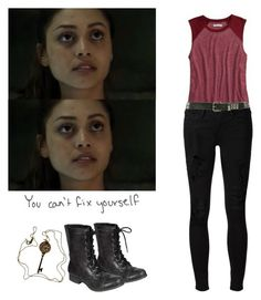 """Raven Reyes - The 100"" by shadyannon ❤ liked on Polyvore featuring American Eagle Outfitters, Tiffany & Co., Frame, City Classified and Wet Seal"