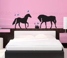 Playful horses wall decal  wall sticker decal wall by ValdonImages, $40.00
