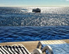 """Ours sea views from our pool """"infinity"""" Marina Suites, Puerto Rico, Gran Canaria."""