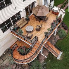 Patio Deck with Fire Pit . Patio Deck with Fire Pit . 20 Modern Diy Firepit Ideas for Your Yard This Year Patio Design, Exterior Design, House Design, Outdoor Spaces, Outdoor Living, Verge, House Goals, Backyard Patio, Backyard Kitchen