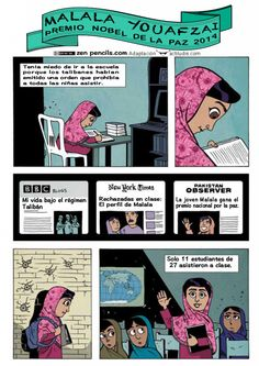 Comic Malala COLOR. Derechos del niño