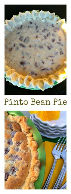 Pinto Bean Pie at ReluctantEntertainer.com #PIDAY