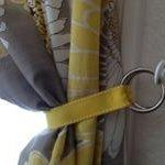 Ribbon Curtain Tie Back, DIY from Homemakers Challenge
