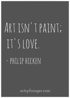 Had to share this one! What a great #art #quote! Do you agree?