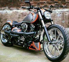Bobber Solo Sitz M Custom Handgenäht Braun Custom Chopper Harley Softail