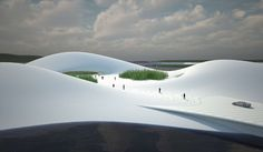 Chinese architecture firm MAD has rolled out a new design for the Pingtang Art Museum. Located on Pingtang island, this museum will mimic. Chinese Architecture, Futuristic Architecture, Parametric Architecture, Parametric Design, Design Museum, Art Museum, Provinces Of China, Shape Art, Exhibition Space