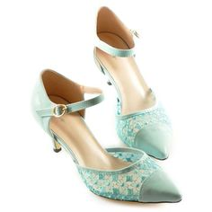 Sexy Women's Pumps With Lace and Splicing Design