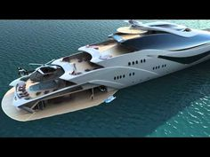 Who doesn't love a gorgeous yacht you can't afford? Luxurious yacht PROJECT MAGNITUDE by Opalinski designs. We all need a yacht. Super Yachts, Big Yachts, Yacht Design, Boat Design, Jet Ski, Ski Boats, Cool Boats, Luxury Helicopter, Grand Luxe