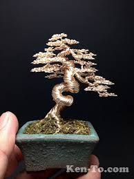 gold wire tree