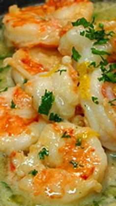 Easy & Healthy Shrimp Scampi ~ You'll be amazed at how easy it is to prepare, and how delicious it tastes! Fish Recipes, Seafood Recipes, Cooking Recipes, Healthy Recipes, Low Carb Shrimp Recipes, Healthy Foods, Sauted Shrimp Recipes, Buttered Shrimp Recipe, Quick Recipes