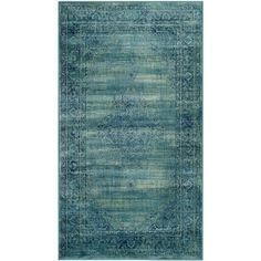 Safavieh Vintage Turquoise Viscose Rug (8'X11'2) $370