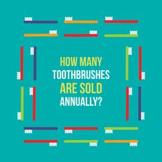 EACH YEAR, 3.5 billion toothbrushes are sold worldwide!