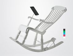 Power Generating Rocking Chair by Micasa LAB: Charge your iPad as you rock. #Rocking_Chair #iPad