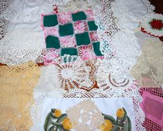 Crochet and Linen Collection of 24 Doilies by CheekyVintageCloset, $64.00