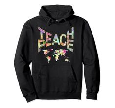 Teach Peace-Movement Hoodie Power of Words