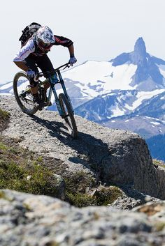 Top of the World trail, Whistler Mountain Bike Park. We love the mountainbike trails around Whistler!