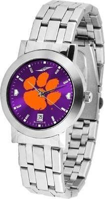 Clemson Tigers Men's Modern Stainless Steel Watch by SunTime. $86.95. Men. Officially Licensed Clemson Tigers Men's Watch Stainless Steel. Links Make Watch Adjustable. Stainless Steel Band. AnoChrome Dial Option. Clemson Tigers Men's Modern Stainless Steel Watch. This Tigers watch has a modern sleek design for the modern man who wants to show their team spirit! The dial is presented in a sleek, stainless steel case and bracelet that rests fashionably yet comfortably a...