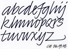 modern calligraphy alphabet - Google Search | Harfler | Pinterest ...