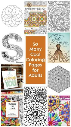 So many cool coloring pages for older kids and adults - coloring pages never go out of style. • TinyRottenPeanuts.com