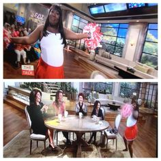 .@sherylunderwood takes it back to high school w/ an hilarious #TheTalk cheer! Show your spirit & RT!!