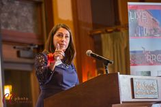 Kathy Prizzia announcing awards at the annual Business Recognition dinner at Mohonk Mountain House. #corporate event photography