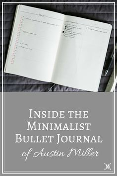 I'm so excited to be welcoming Minimalist Bullet Journalist Austin Miller to the…