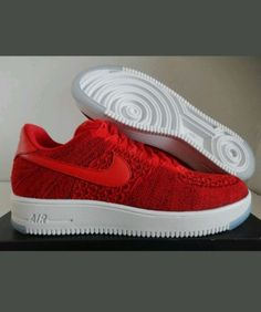 san francisco ef3d3 319e5 Brand New Nike Air Force 1 Ultra Flynit Low University Red 817419-600 size  9.5