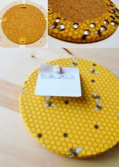 DIY: fabric covered cork inspiration board