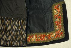 Detalj, forkle fra Tuddal i Øst-Telemark, antakelig slutten av (Norway). - Detail of apron embroidery from eastern Telemark from around