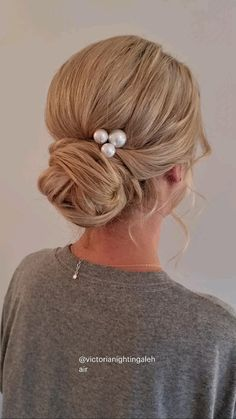 Bridesmaid Hair Updo, Bridal Hair Updo, Bridal Hair And Makeup, Wedding Updo, Soft Wedding Hair, Bob Wedding Hairstyles, Fancy Hairstyles, Everyday Hairstyles, Bride Hairstyles