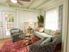 Girly living room. Via:HGTV property brothers