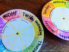 LOVE this!! each child make one to use at circle time to learn days of week and to understand that print carries meaning.   --found on website on Monday July 25th 2011--