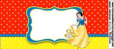 Snow White - Complete Kit with frames for invitations, labels for snacks, souvenirs and pictures!   Making Our Party